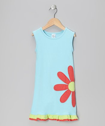 Sky Blue Flower Dress - Infant, Toddler & Girls