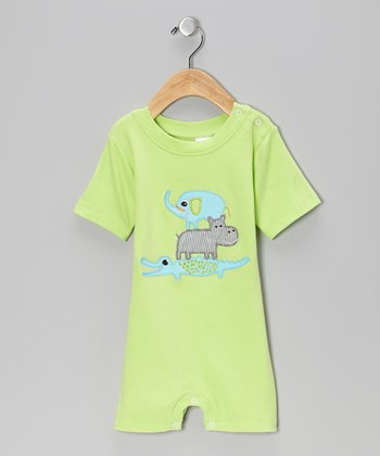 Lime Zoo Stack Romper - Infant