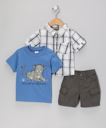 Blue Lion Cub Tee Set - Infant