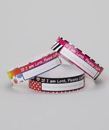 Pink Safety Wristband - Set of 24