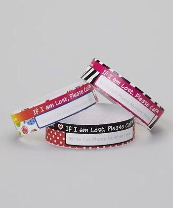 Pink Safety Wristband - Set of 24