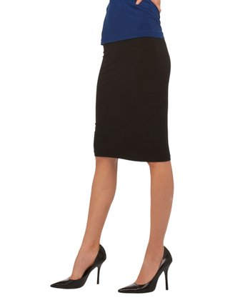 Black Skirt To Knee Pencil Skirt