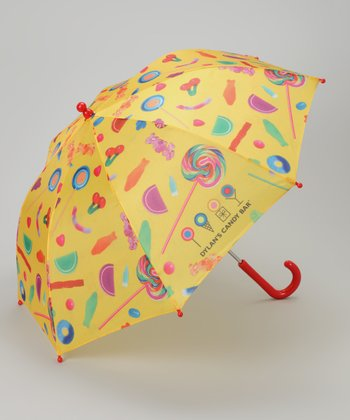Yellow & Red Candy Bar Umbrella