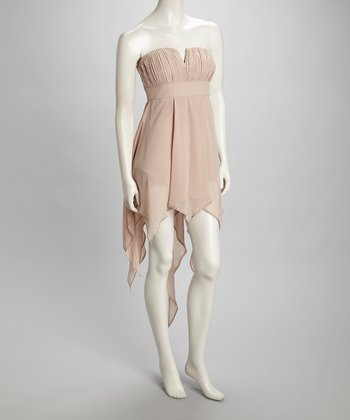 Champagne Handkerchief Dress