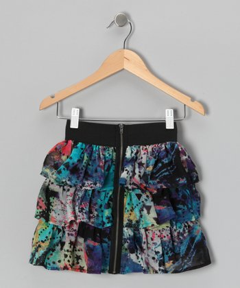 Galaxy Ruffle Tier Skirt - Girls