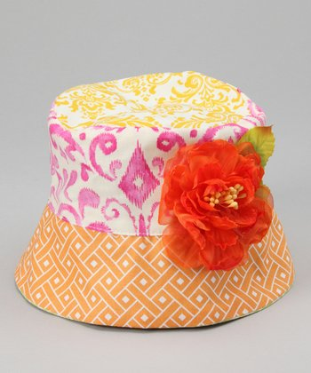 Orange Flower Elizabeth Bucket Hat