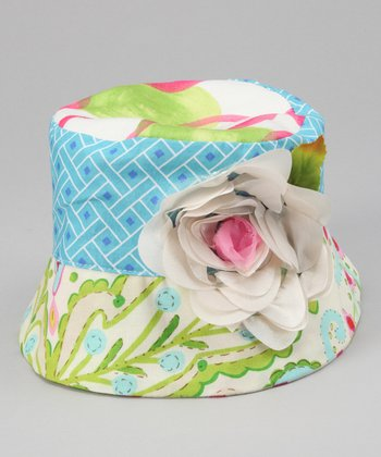 Blue Flower Amelia Bucket Hat