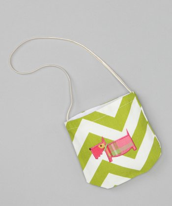 Lime Chevron Dog Petit Purse