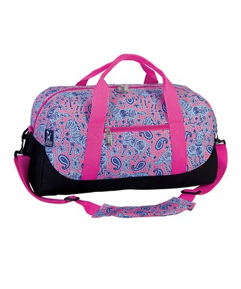 Pink Watercolor Ponies Sleepover Duffel Bag