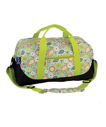 Green Spring Bloom Sleepover Duffel Bag