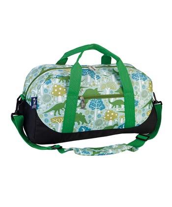 Green Dino-Mite Sleepover Duffel Bag