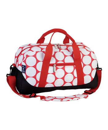 Red & White Big Dot Sleepover Duffel Bag