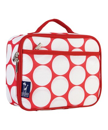 Red & White Big Dot Lunch Box