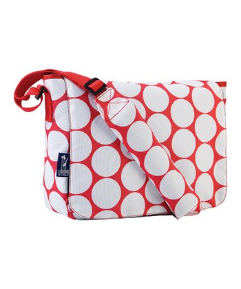 Red & White Big Dot Kickstart Messenger Bag
