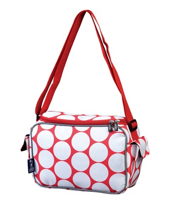 Red & White Big Dot Lunch Cooler