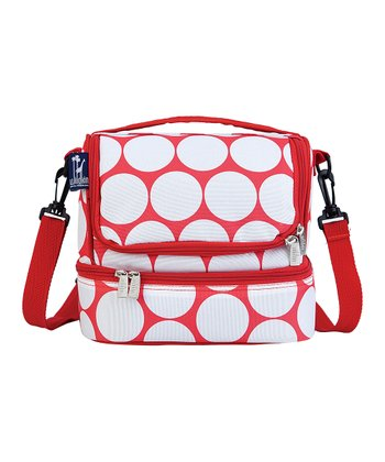 Red & White Big Dot Double-Decker Lunch Bag