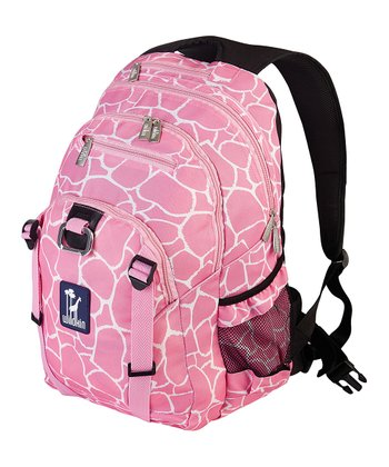 Pink Giraffe Serious Backpack
