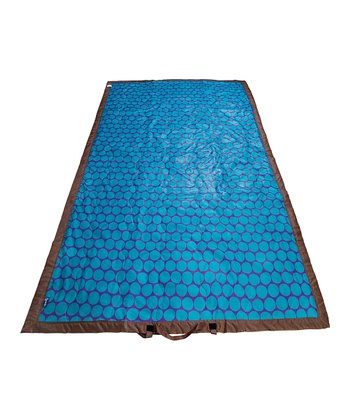 Aqua Blue Big Dot Picnic Blanket