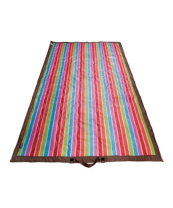 Bright Stripe Picnic Blanket