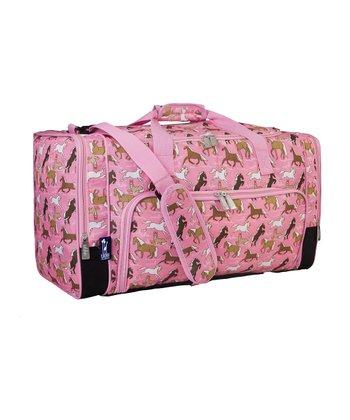 Pink Horses Weekender Duffel Bag
