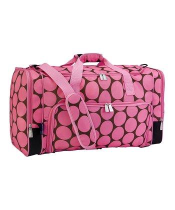 Pink Big Dot Weekender Duffel Bag
