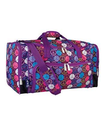 Purple Peace Weekender Duffel Bag