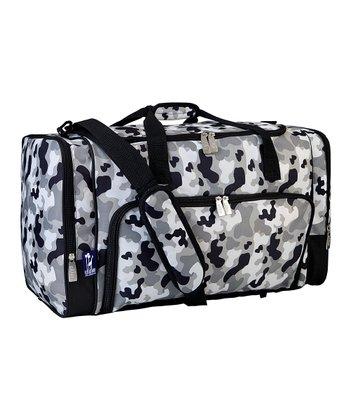 Gray Camo Weekender Duffel Bag