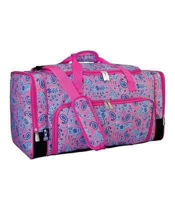 Pink Watercolor Ponies Weekender Duffel Bag