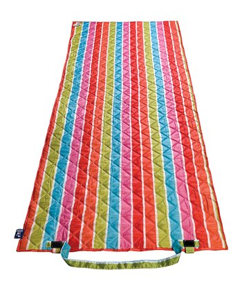 Bright Stripe Roll-Up Beach Mat