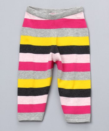 Pink Combo Striped Knit Pants