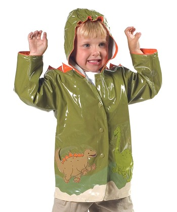 Green Dinosaur Raincoat - Infant, Toddler & Kids
