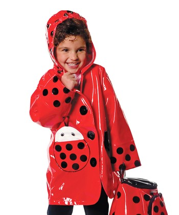 Red Ladybug Raincoat - Infant, Toddler & Kids