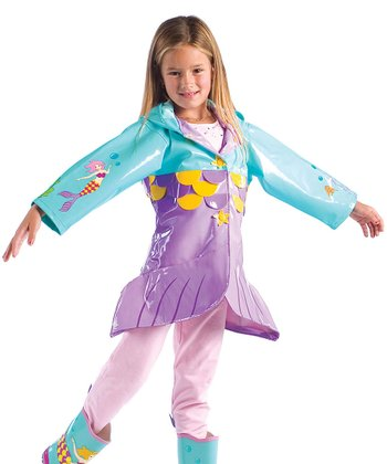 Aqua Mermaid Raincoat - Infant
