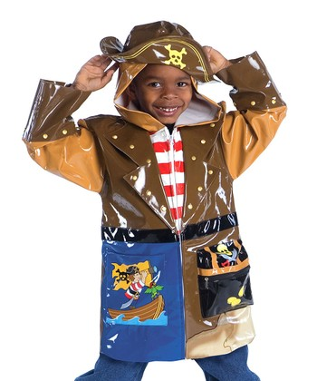 Brown Pirate Raincoat - Infant, Toddler & Kids