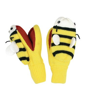 Yellow Bee Mittens