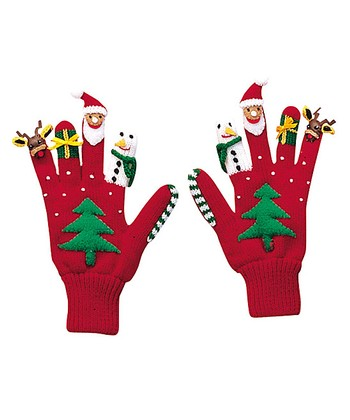 Red Christmas Gloves