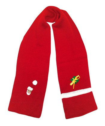 Red Christmas Scarf