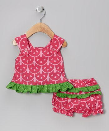 Watermelon Crisscross Tunic & Bloomers - Infant