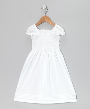 White Smocked Dress - Infant, Toddler & Girls