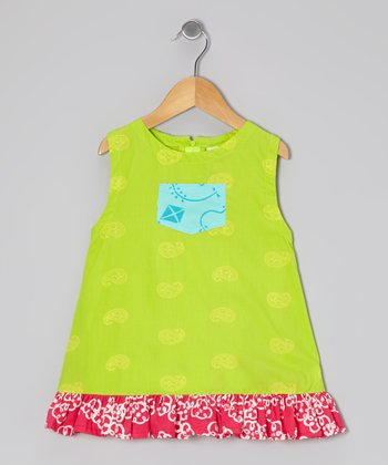Lime Green Paisley Diane Swing Dress - Infant, Toddler & Girls