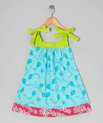 Turquoise Kite Peggy Swing Dress - Infant, Toddler & Girls