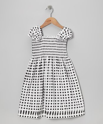 Black & White Polka Dot Chandler Dress - Infant, Toddler & Girls