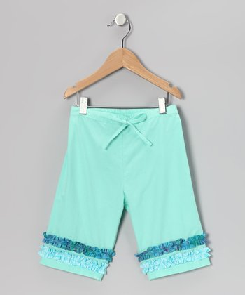 Aqua Ruffle Pants - Infant, Toddler & Girls