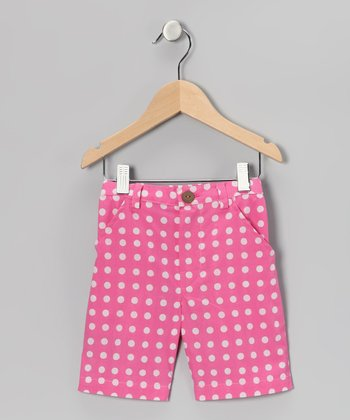 Pink Polka Dot Bermuda Shorts - Toddler & Girls