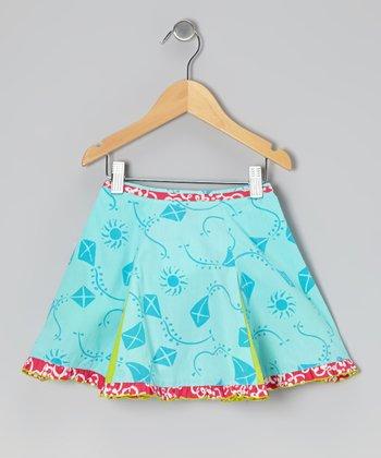 Turquoise Kite Flare Skirt - Toddler & Girls