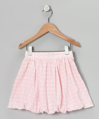 Baby Pink Polka Dot Bubble Skirt - Toddler & Girls