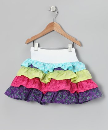 Rainbow Tiered Ruffle Skirt - Toddler & Girls