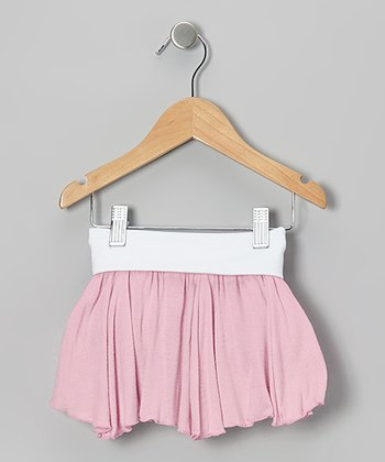 Pink & Brown Reversible Skirt - Girls