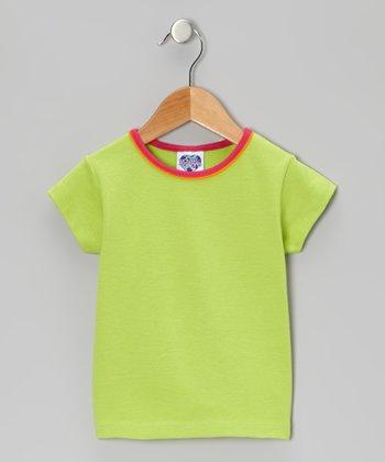 Lime Green & Dark Pink Tee - Infant, Toddler & Girls