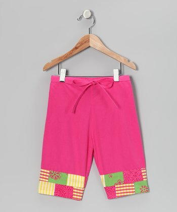 Pink Patchwork Capri Pants - Infant, Toddler & Girls